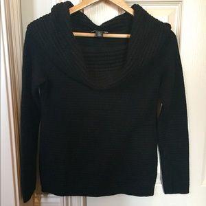 Off Shoulder or Cowl Neck Black Sweater